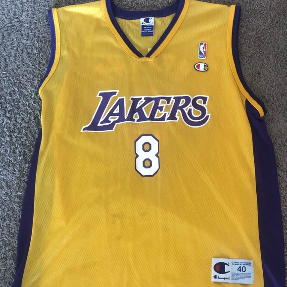 detailed look bcf8f a21ea Retro Champion Kobe Bryant Lakers Jersey